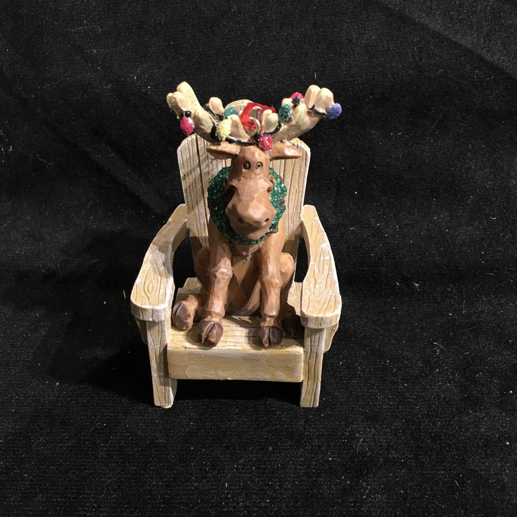 Muskoka Chair w/Moose Orn.