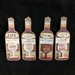"""6"""" Wooden Wine Bottle 4A"""