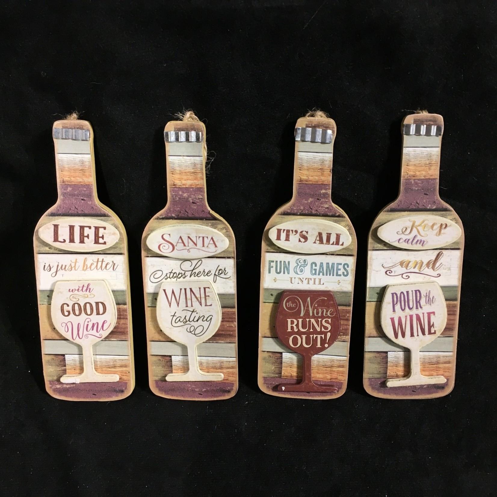 """**6"""" Wooden Wine Bottle 4A"""