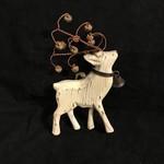 Natural Reindeer Ornament w/Bells