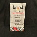 Fire Pit Rules Tea Towel