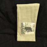 **Watercolour Bear Tea Towel