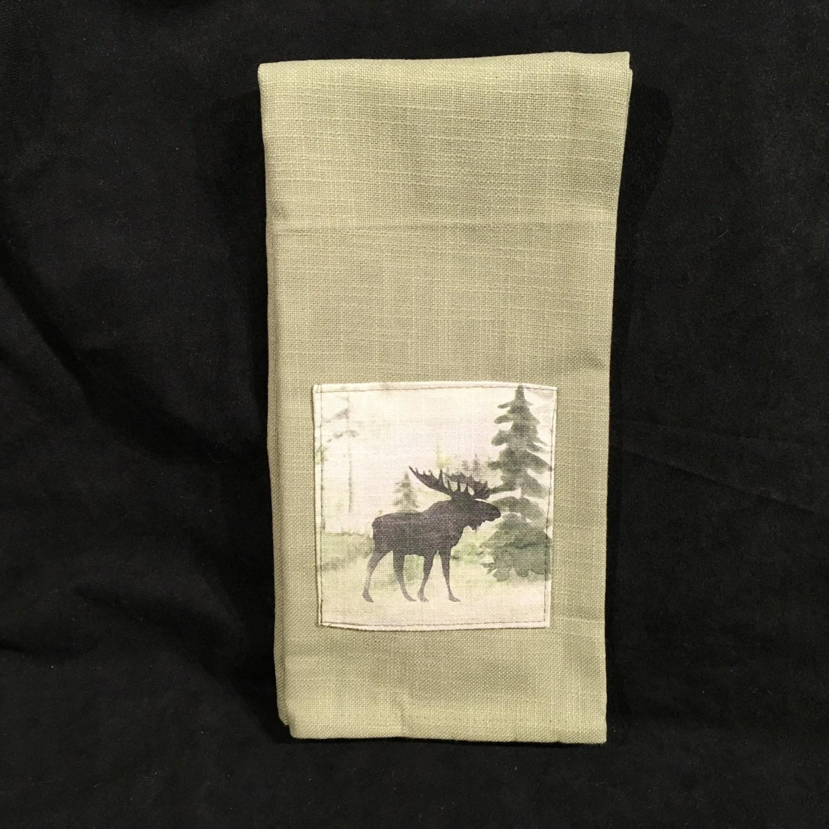Watercolour Moose Tea  Towel
