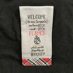 Beer & Open Flame Tea Towel