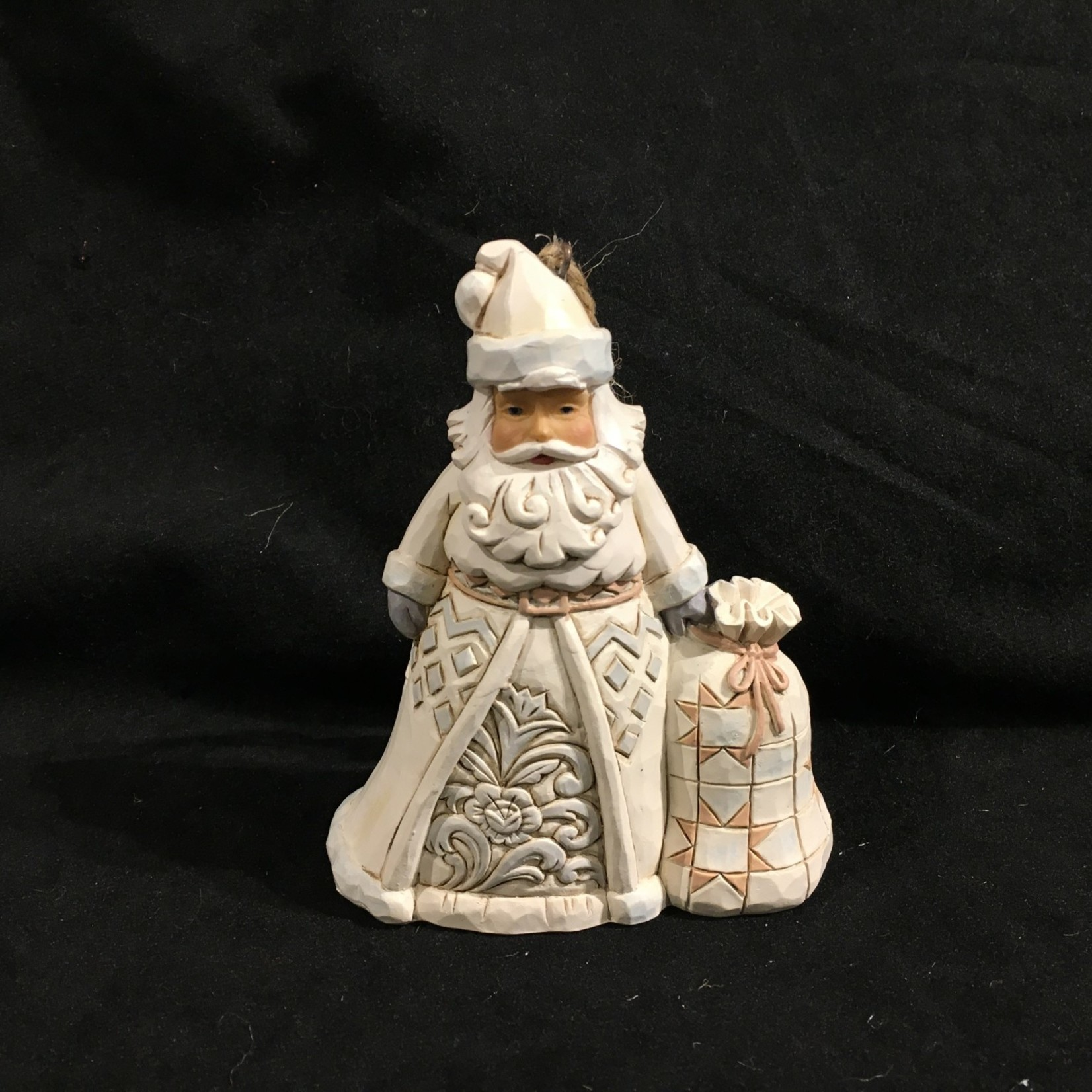 "Jim Shore - 4.25"" Woodland Santa w/Bag Orn"