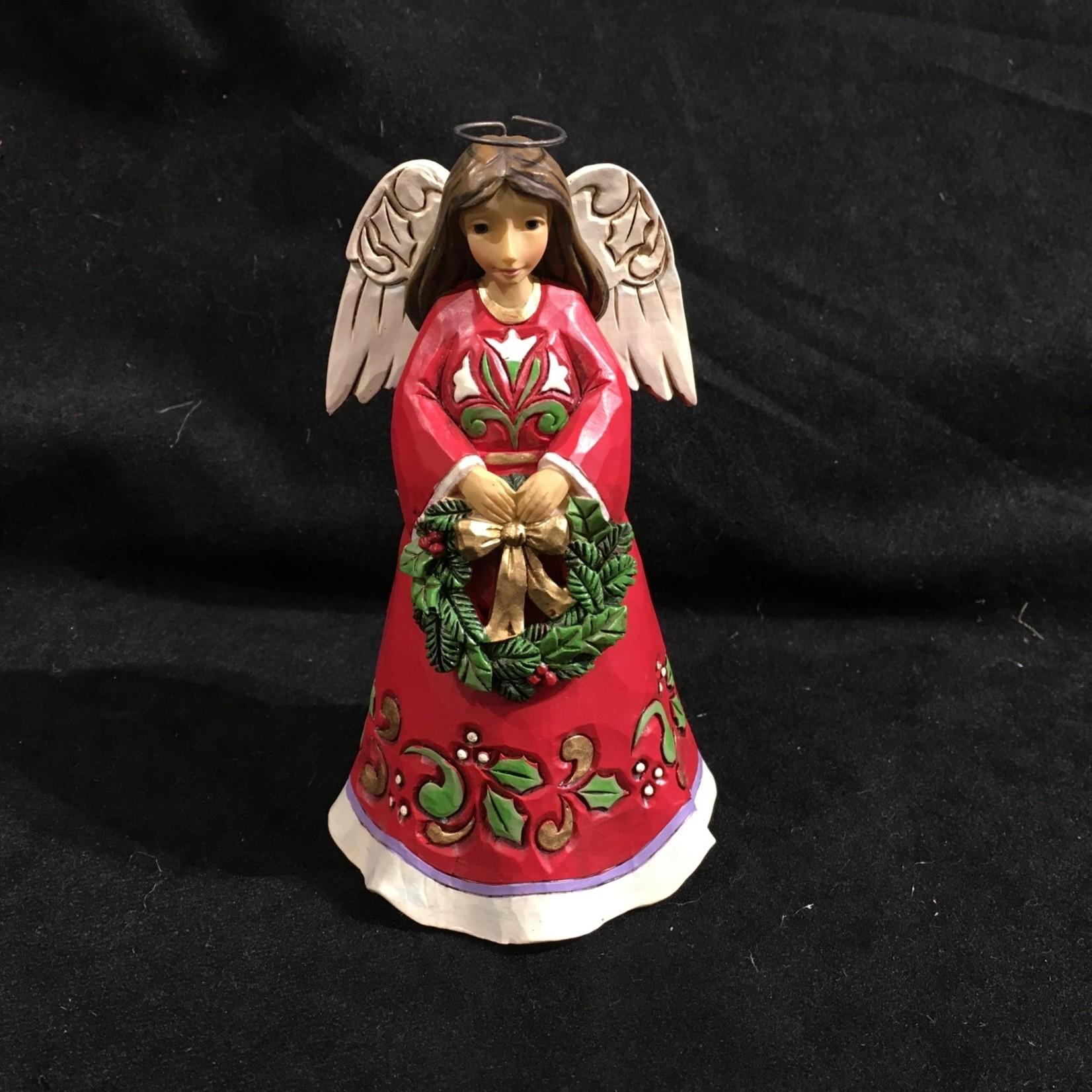 "Jim Shore - 5"" Angel w/Wreath Figurine (no box)"