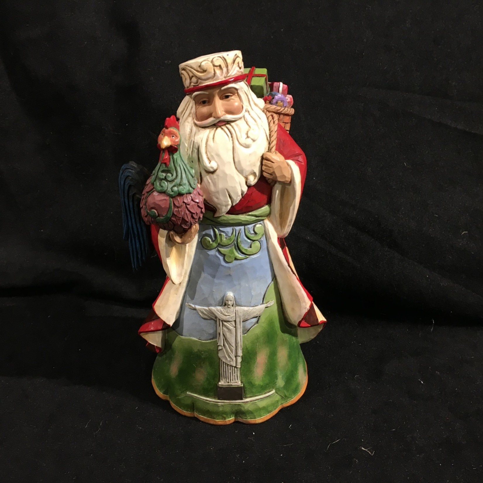 "Jim Shore - 7.25"" Brazilian Santa"