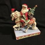 "Jim Shore - Santa on White Steed 7.5x9"""