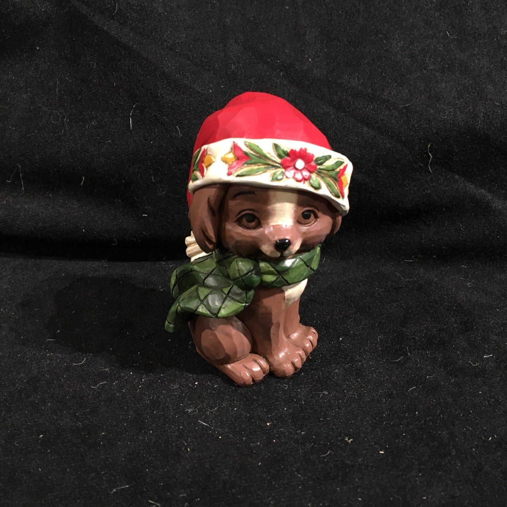 "Jim Shore - 3.5"" Christmas Puppy Figurine"