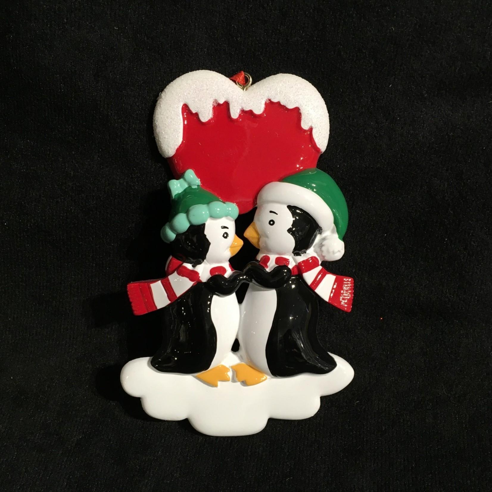 Penguin Kisses Ornament