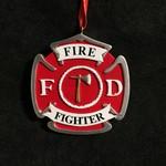 **Fireman Badge Ornament
