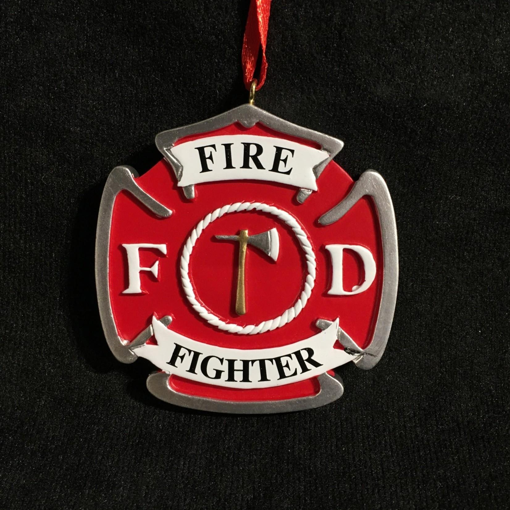 Fireman Badge Ornament