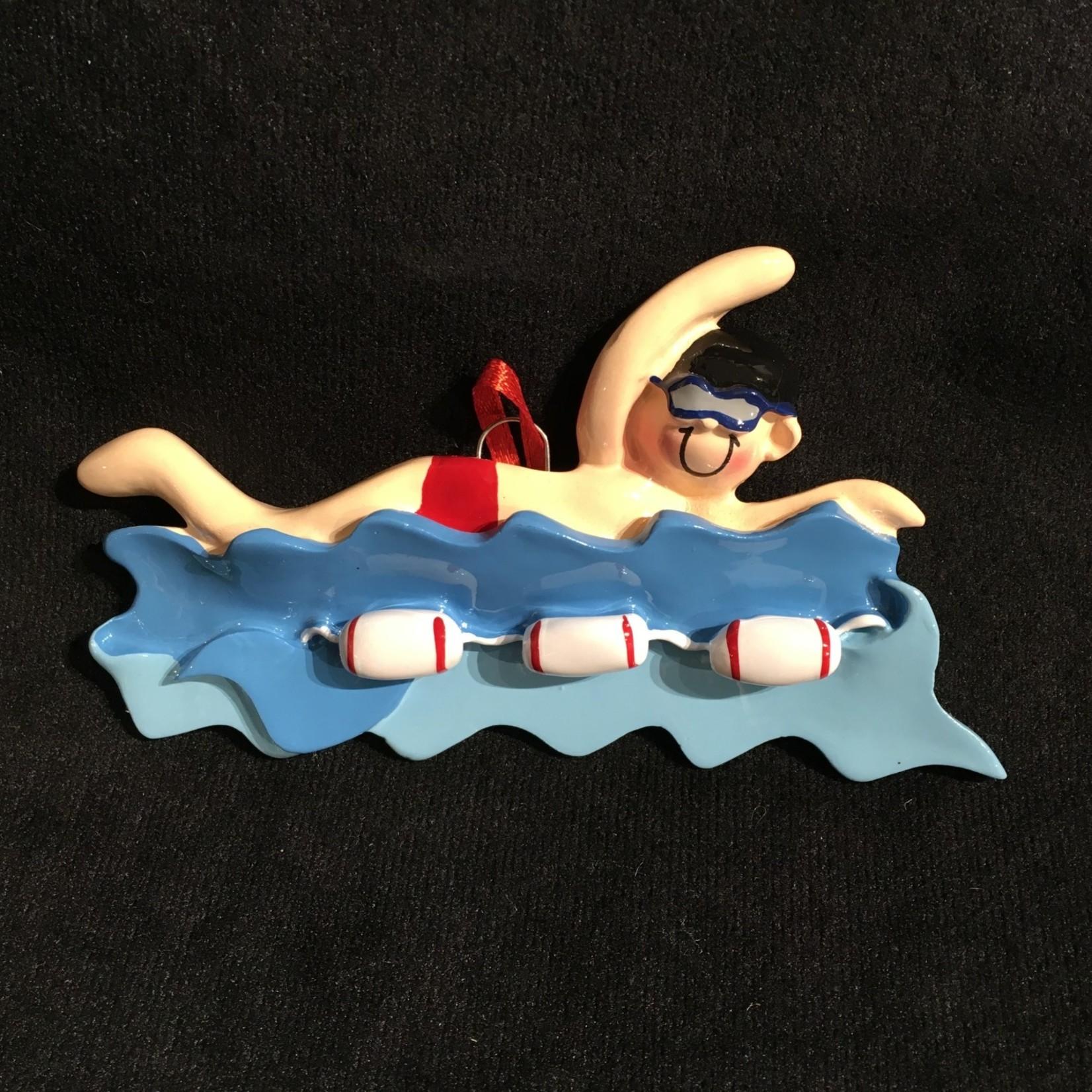 Swimmer Boy in Water Orn