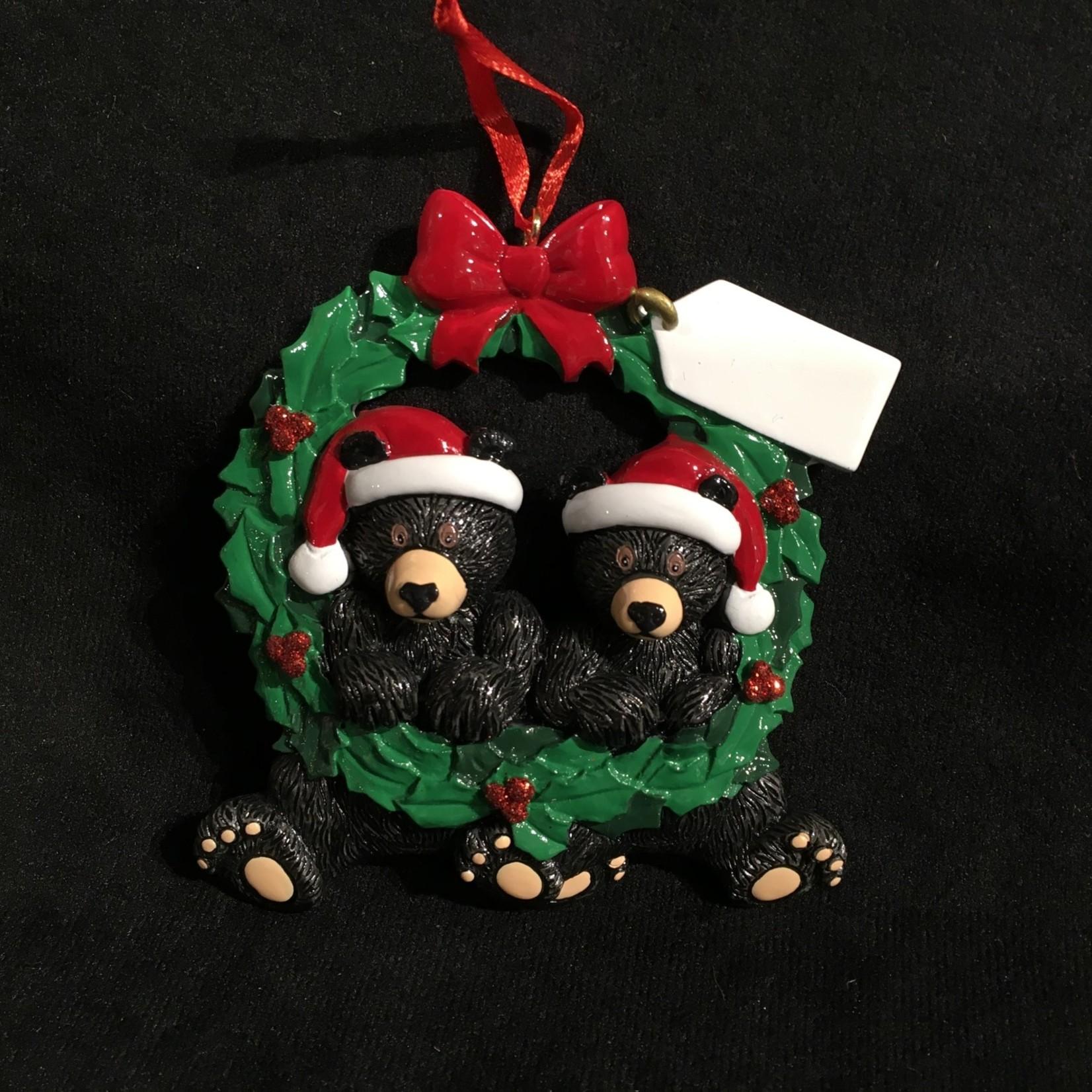 Black Bear Wreath Orn - 2