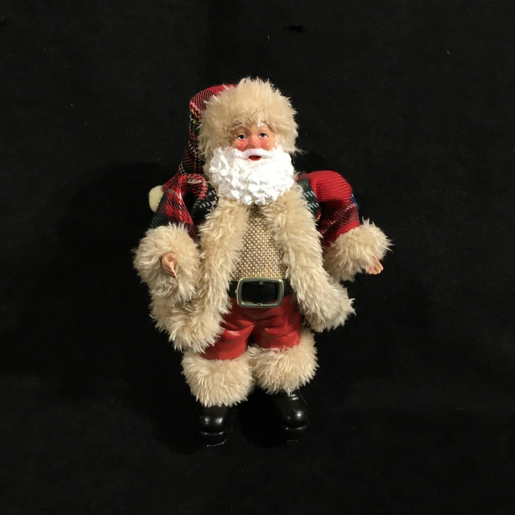 """7"""" Santa in Tartan Orn."""