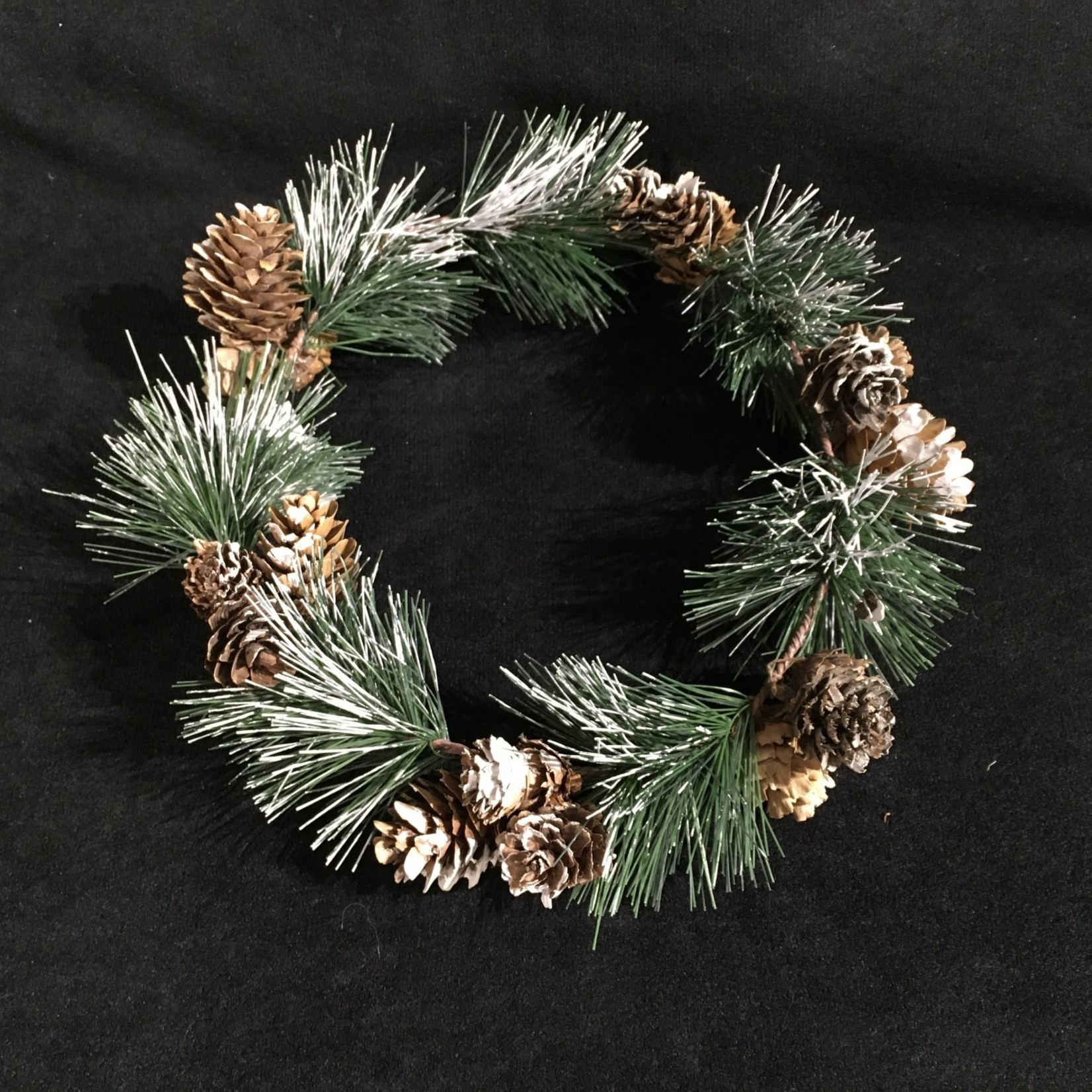 """** 4"""" Pinecone Candle Ring"""