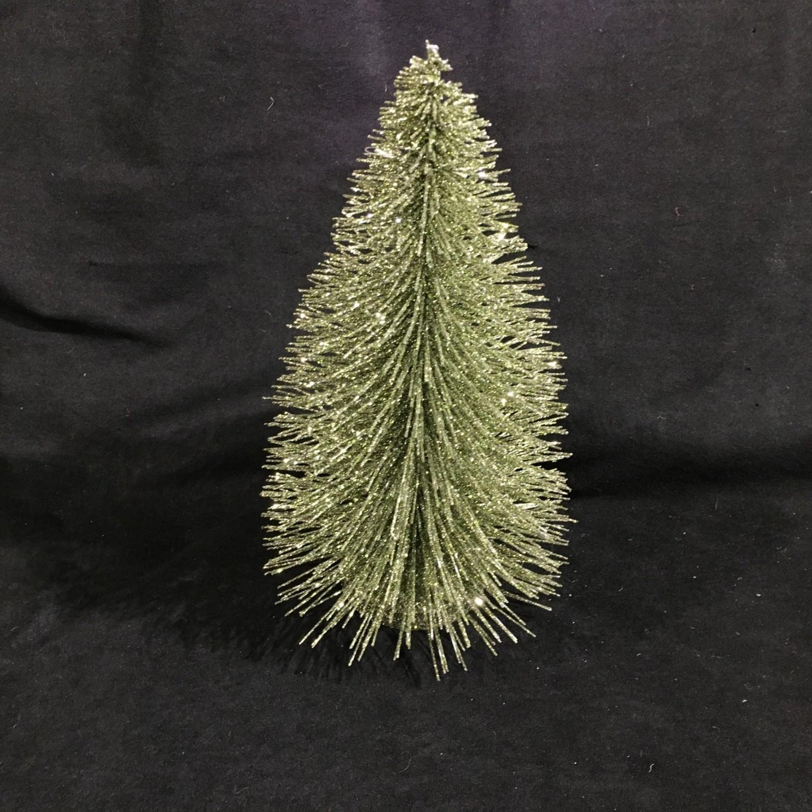 """12"""" Green Bottle Brush Tree (Small)"""