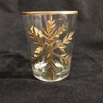 "4.5"" Gold Snowflake Tall Tealight Holder (no box)"