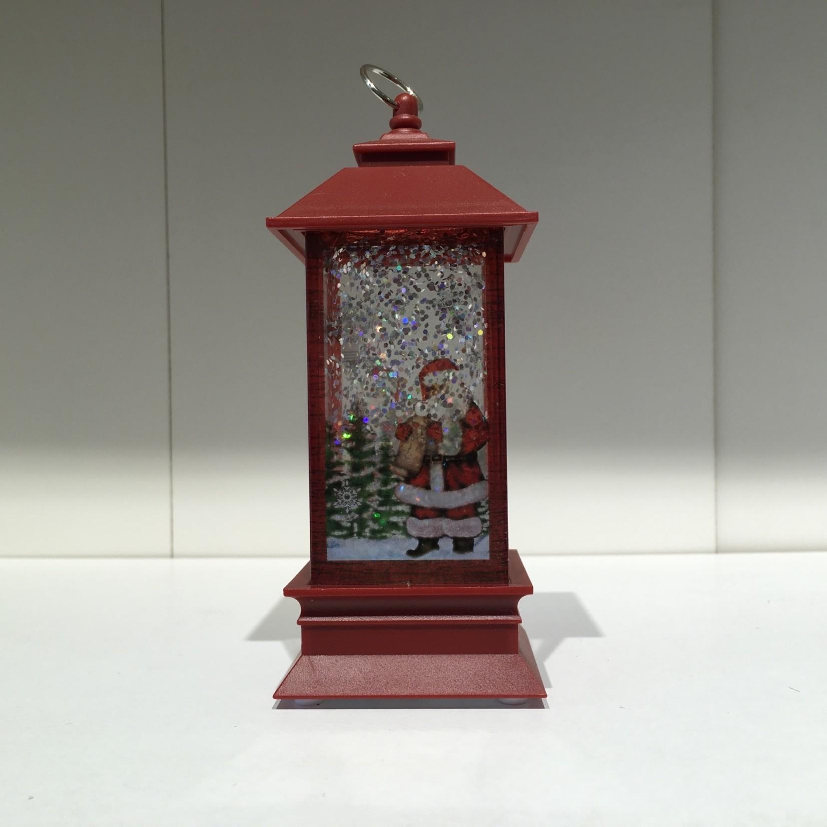 "**5.25"" LED Santa Lantern Mini Shimmer"