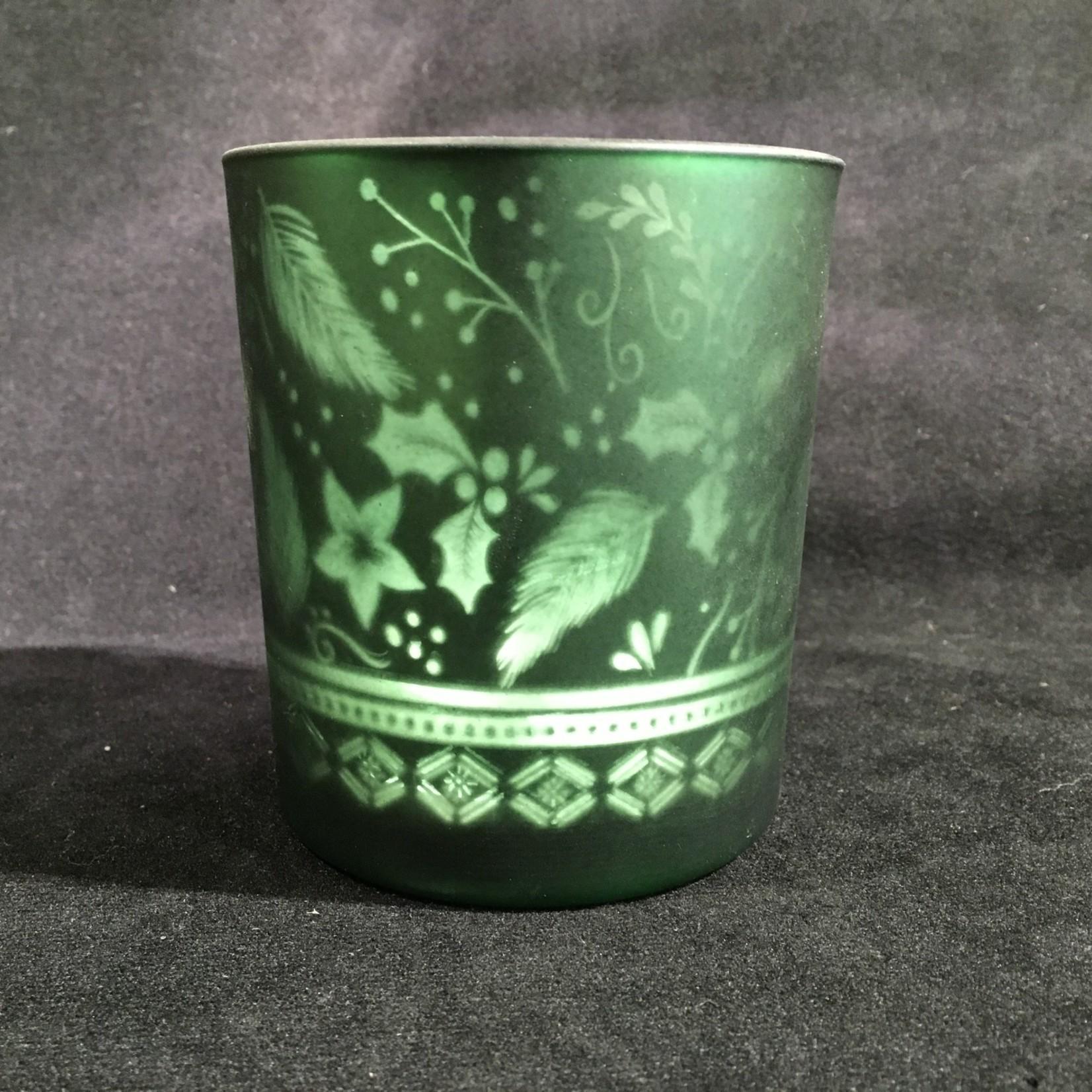 """4"""" Green Candle Holder (Med)"""