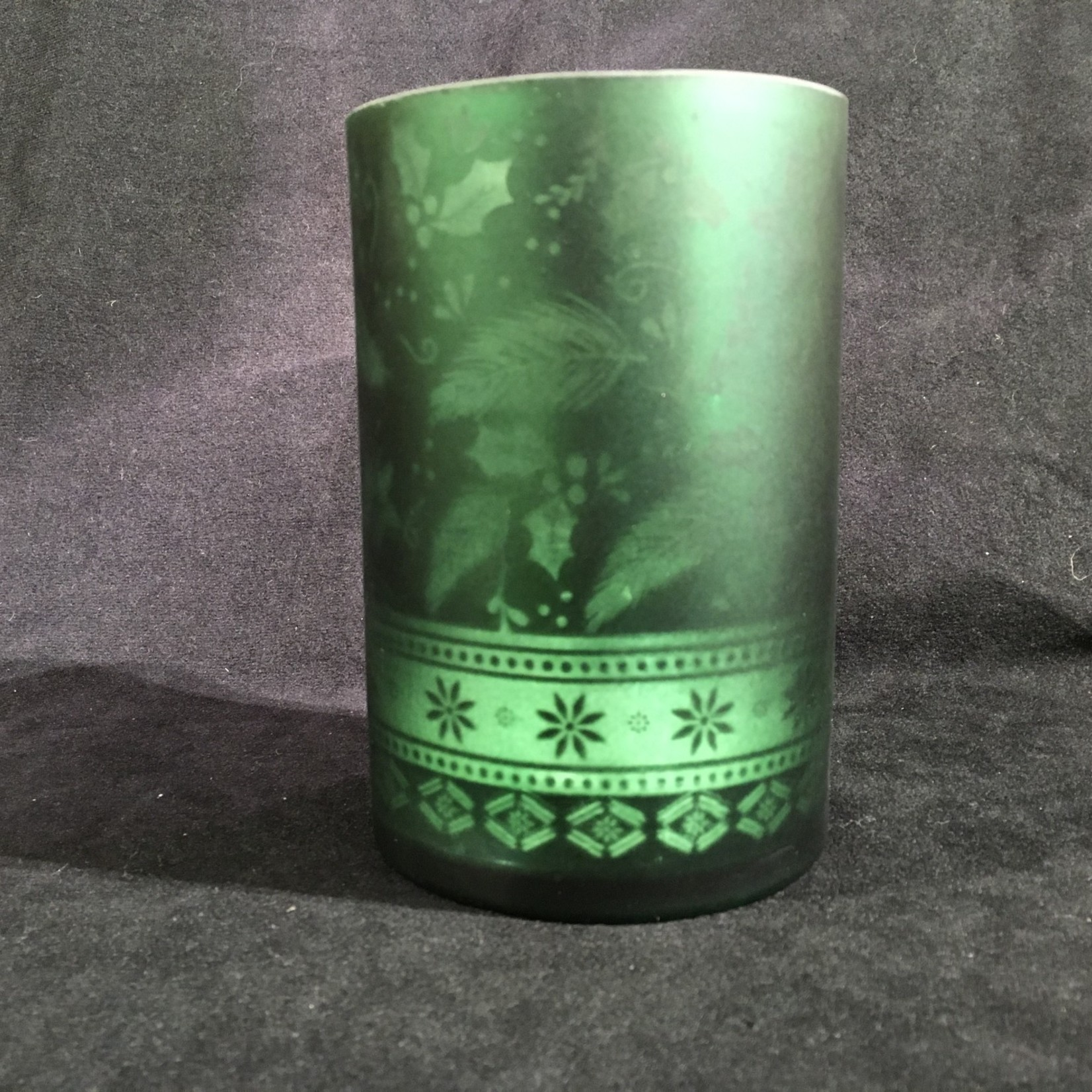 """6"""" Green Candle Holder (Large)"""