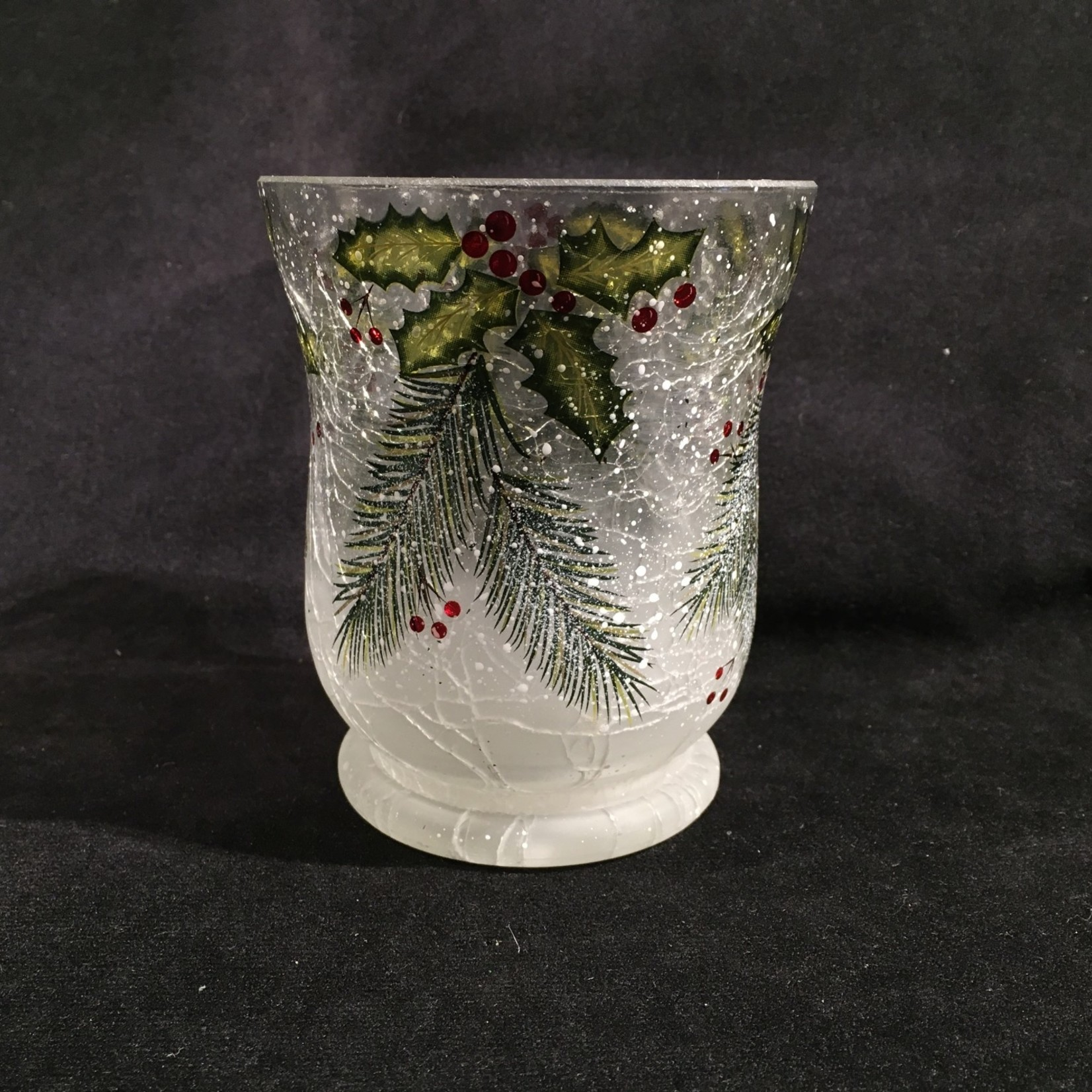 """4"""" Fluted Hurricane w/Holly"""