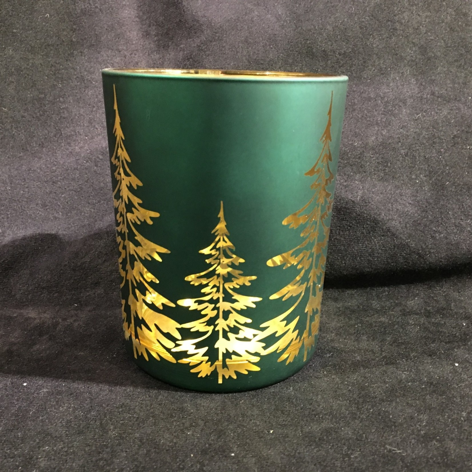 """5"""" Red/Green Candle Holder (Large)"""
