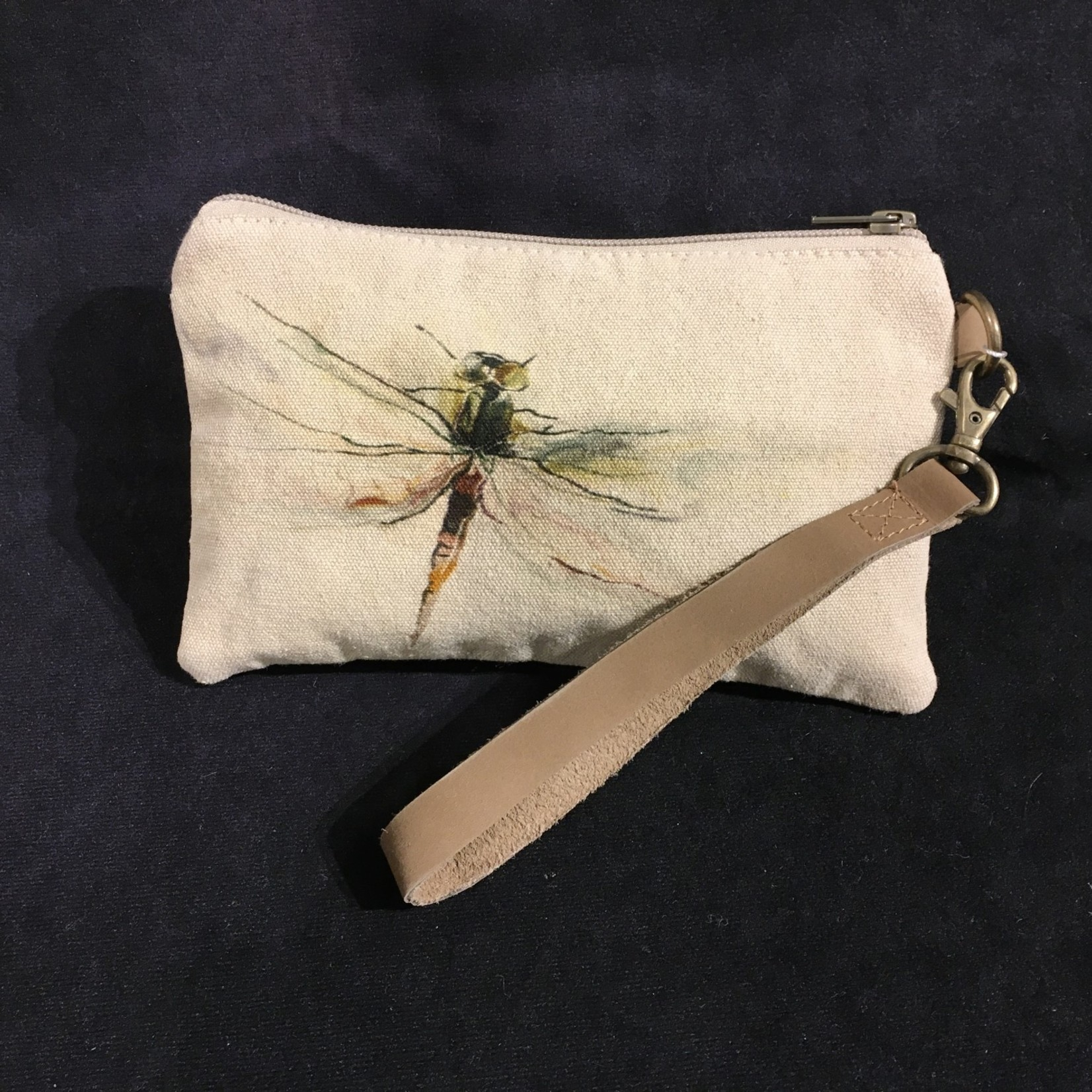 """Dragonfly Zip Pouch 8x5"""""""