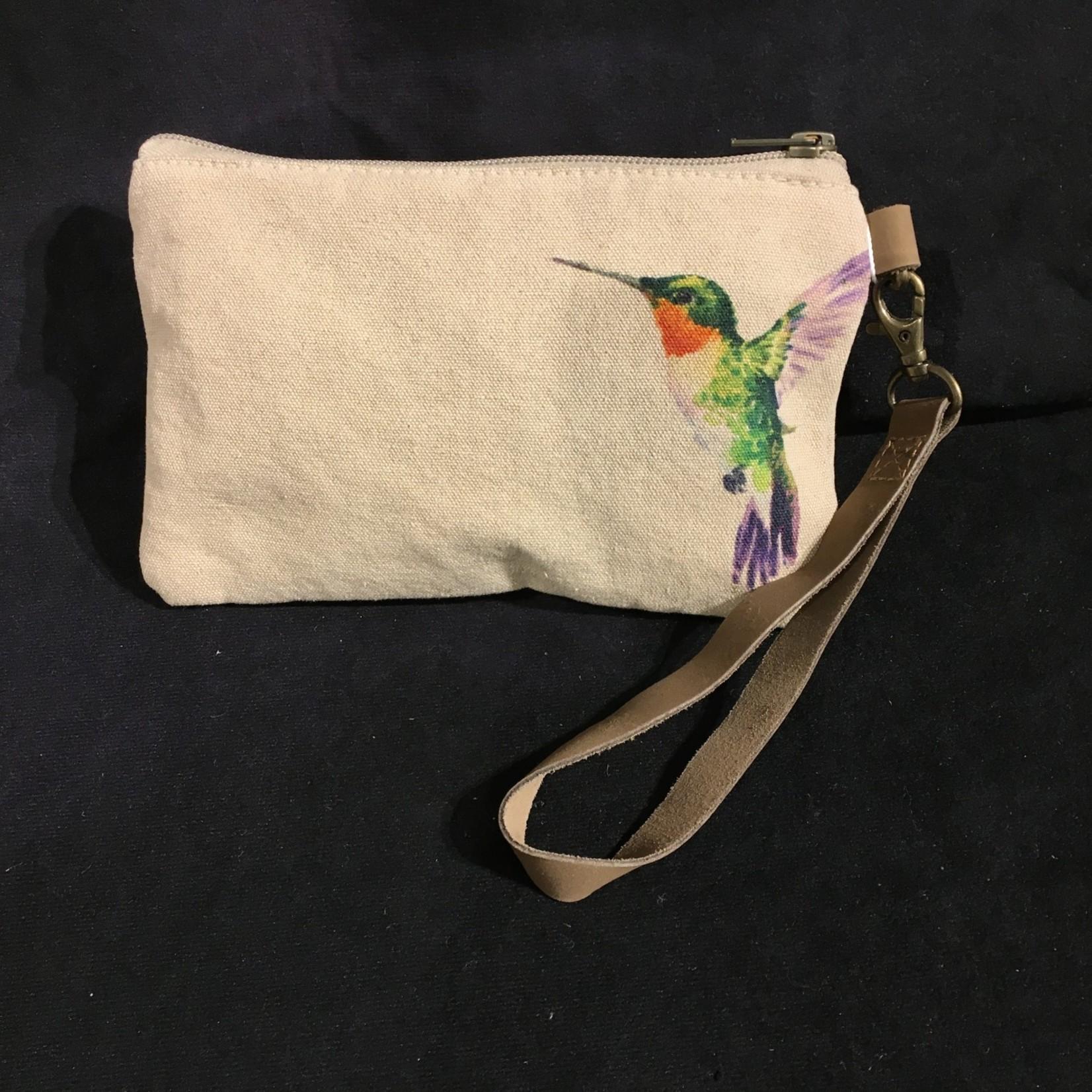 """Hummingbird Zip Pouch 8x5"""""""