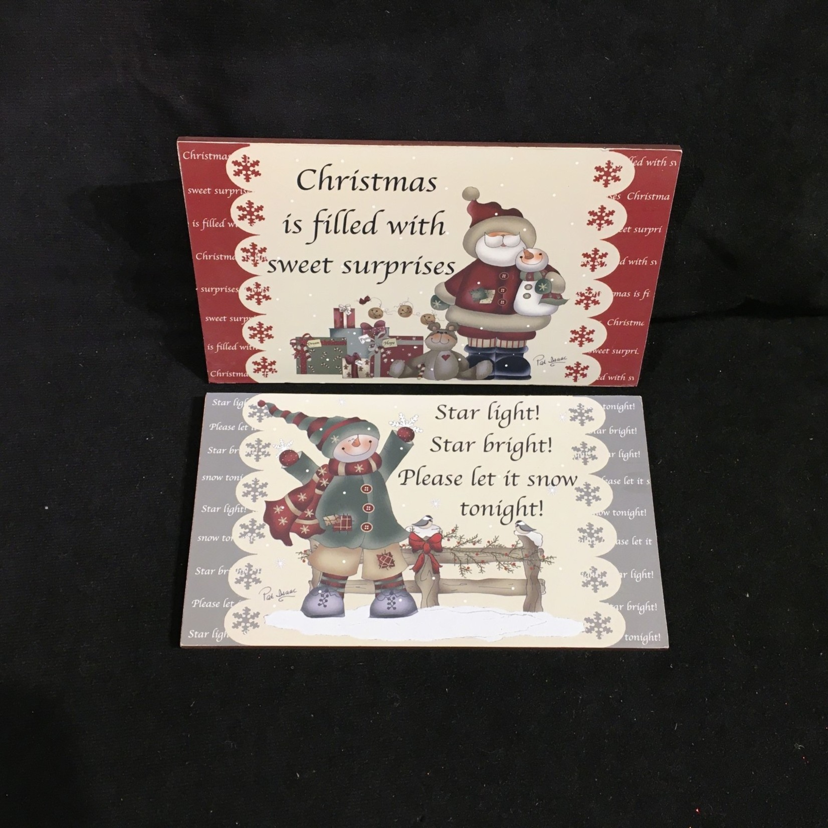 """**Large Plaque w/ Sayings Red Ribbon 7x4"""""""
