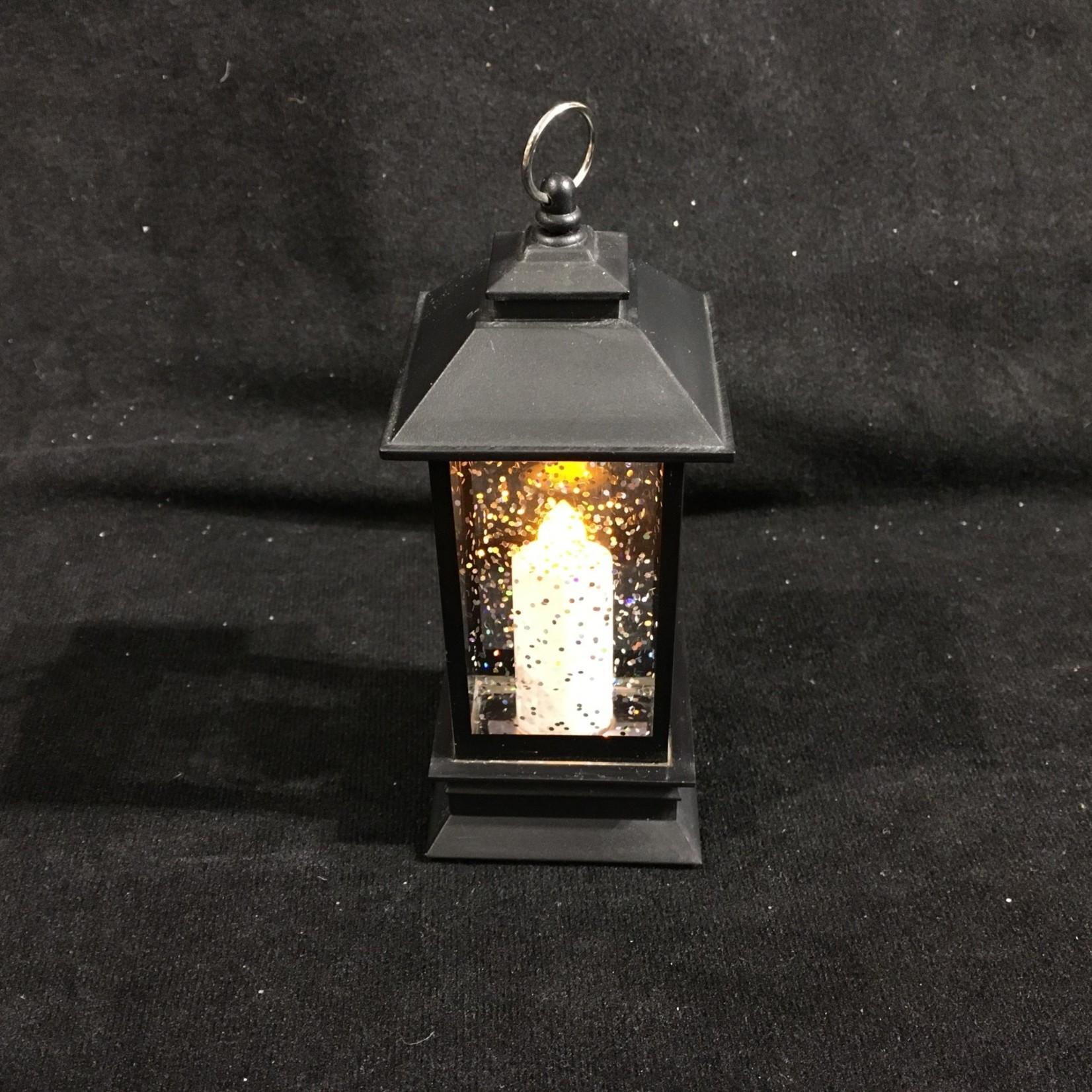 """5.25"""" LED Lantern w/Candle Mini Shimmer"""