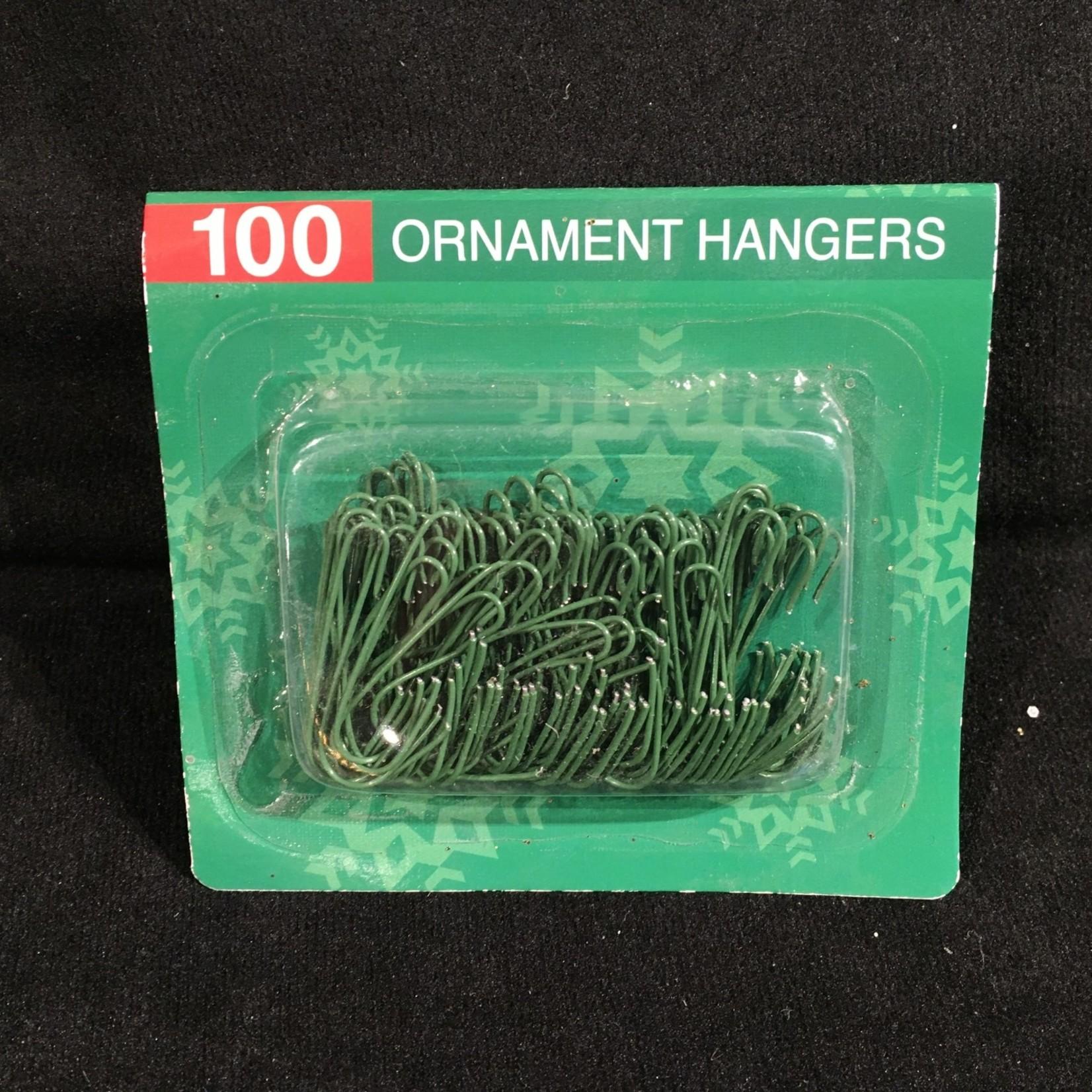 Green Ornament Hooks 100 pk