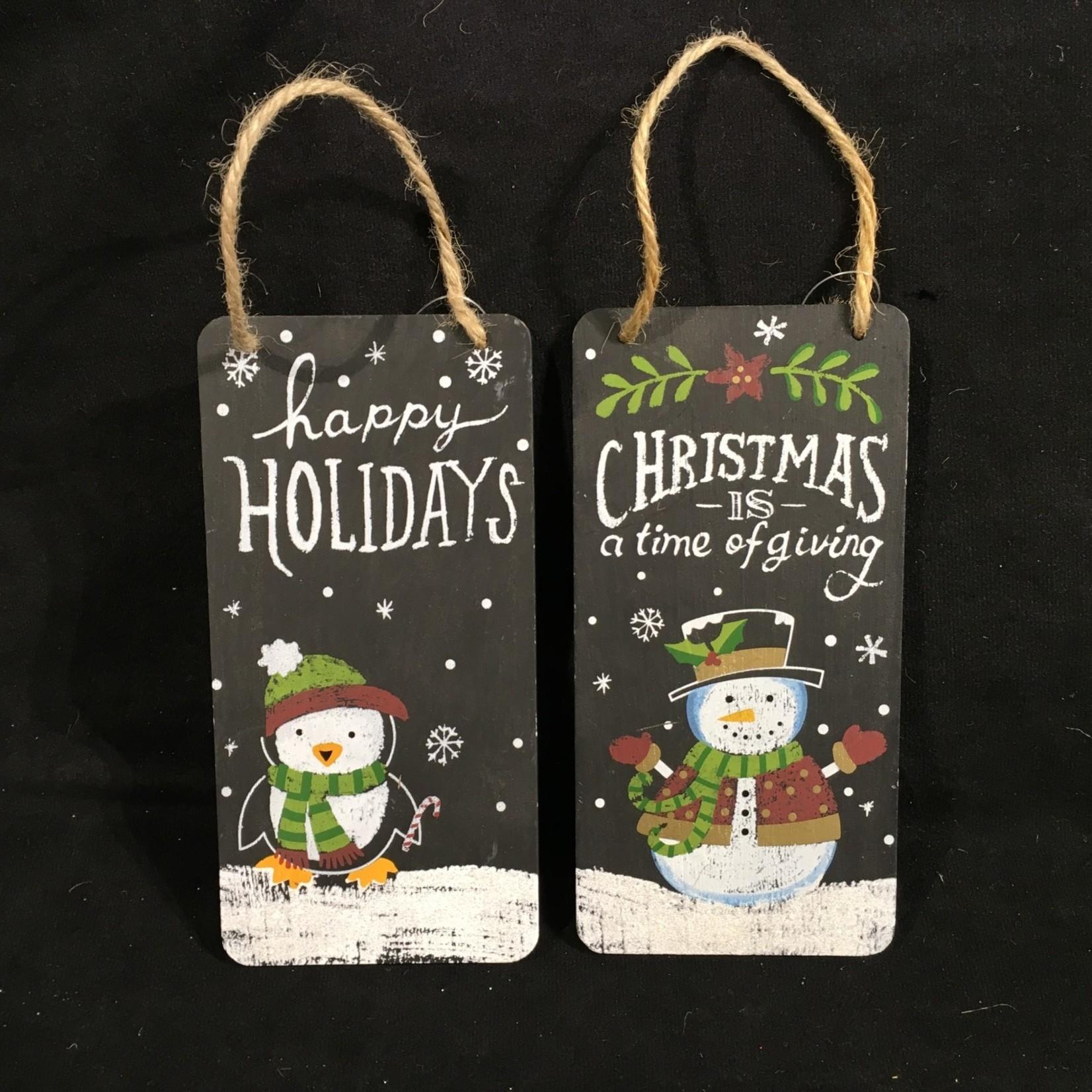 "**Chalk Christmas/Holiday Sign 2A 3.5x7"""