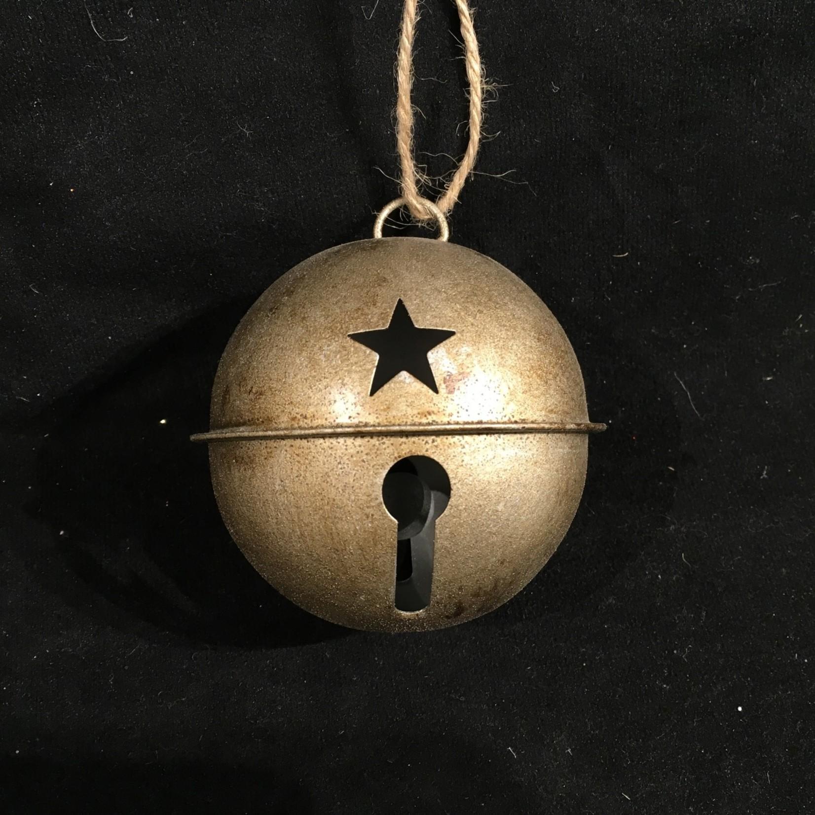 """4"""" Rustic Bell Ornament 3A"""