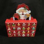 "Santa Advent Calendar (box) 10.5x12.5"""