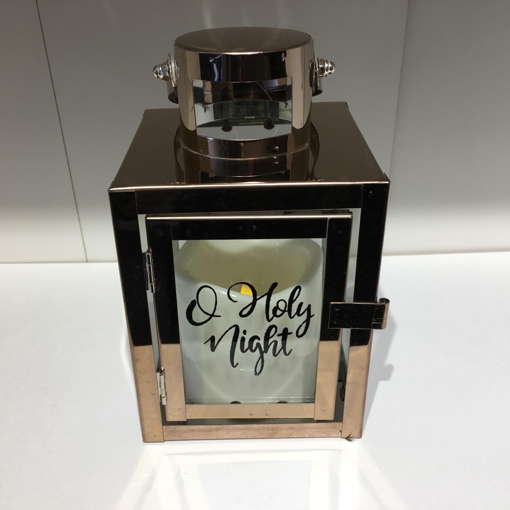 "Lantern w/ Candle - O Holy Night 4.25x8.75"""