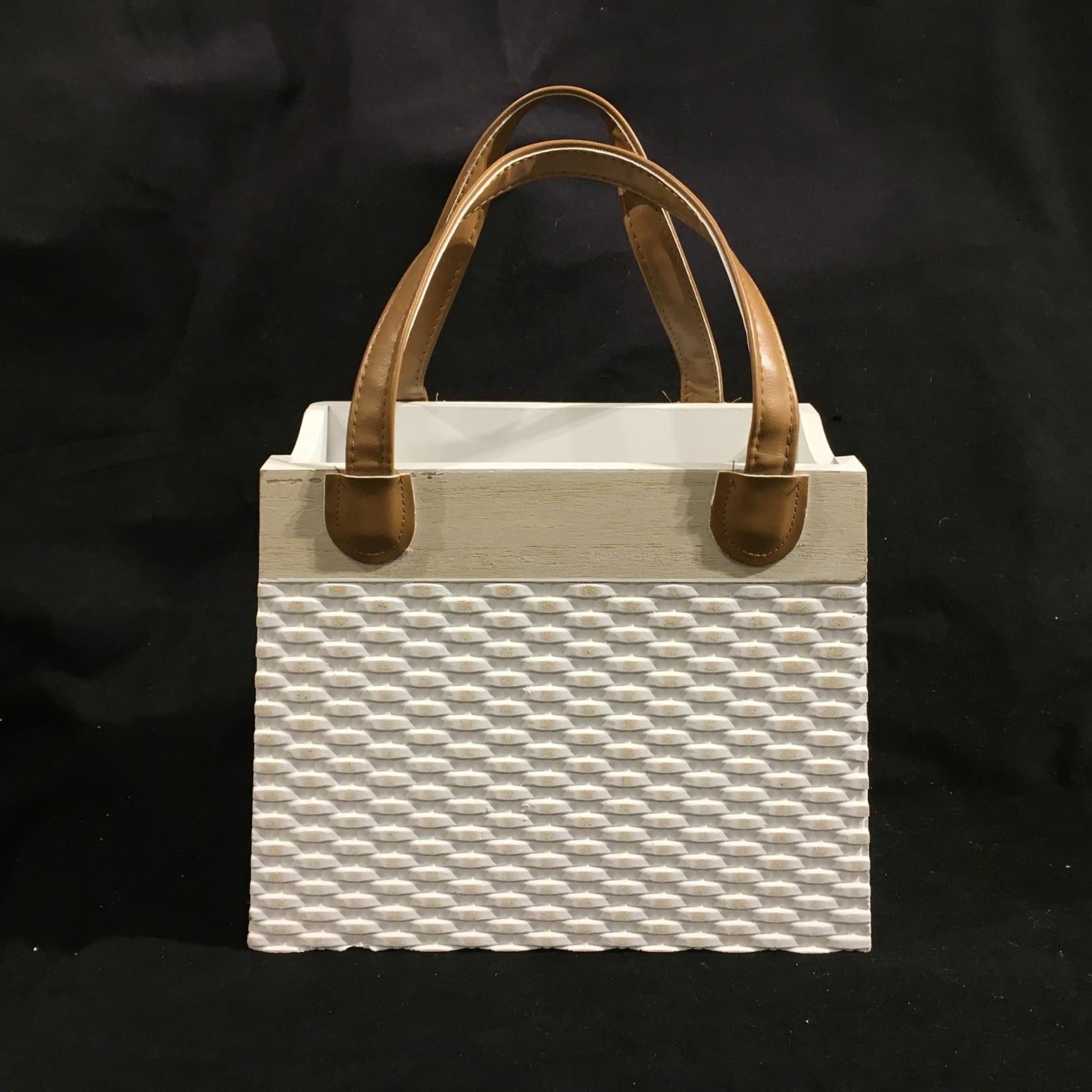 """Storage w/Leather Handle 11.5x15"""""""