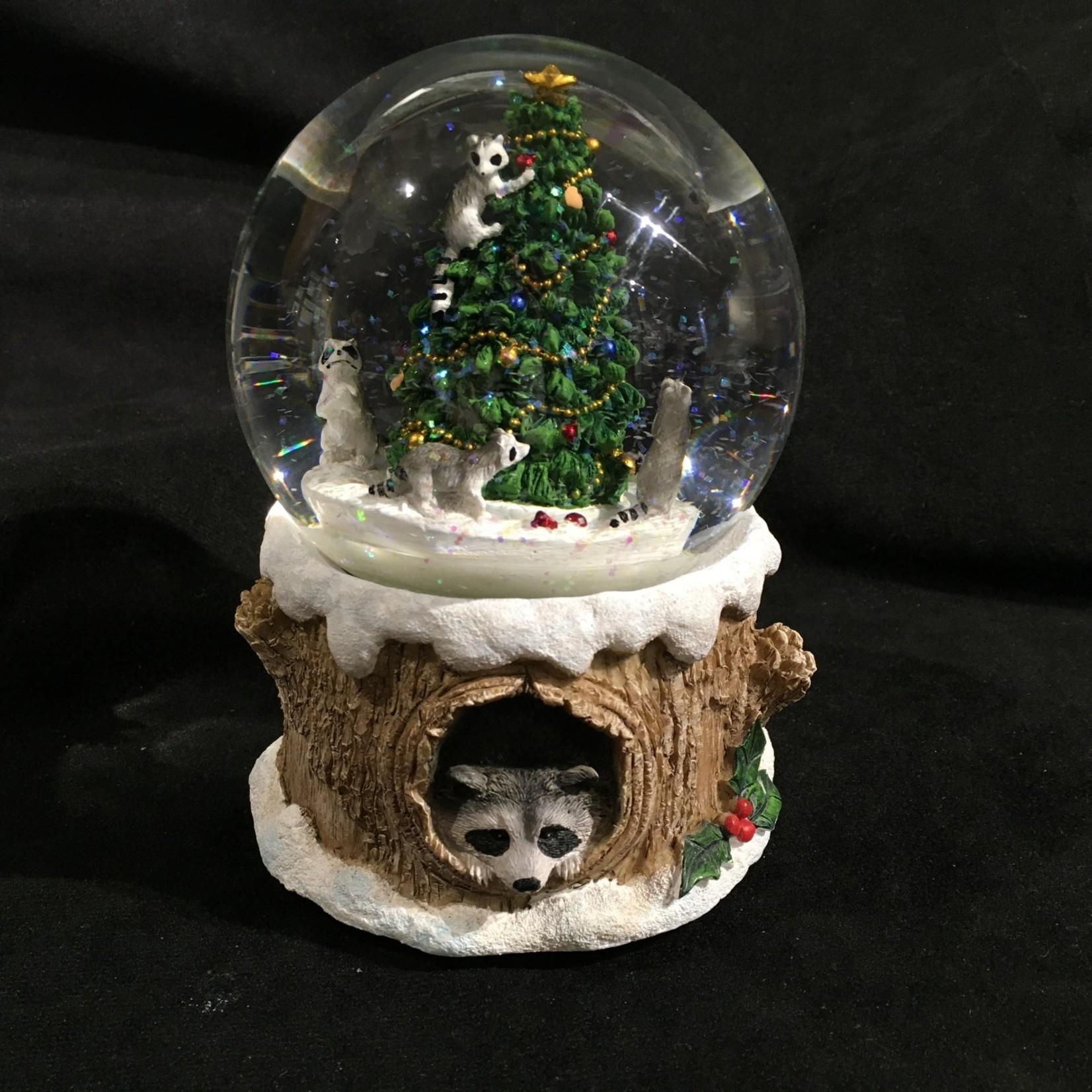 "6"" Musical Raccoon Water Dome"