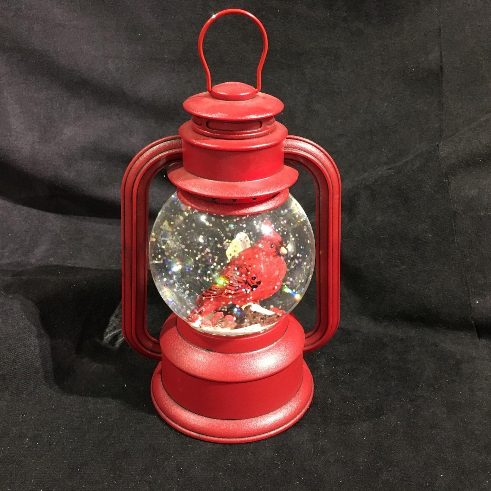"**9.5"" Cardinal Water Globe Lantern"