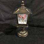 "12.5"" LED Swirl Lantern w/Cardinal"