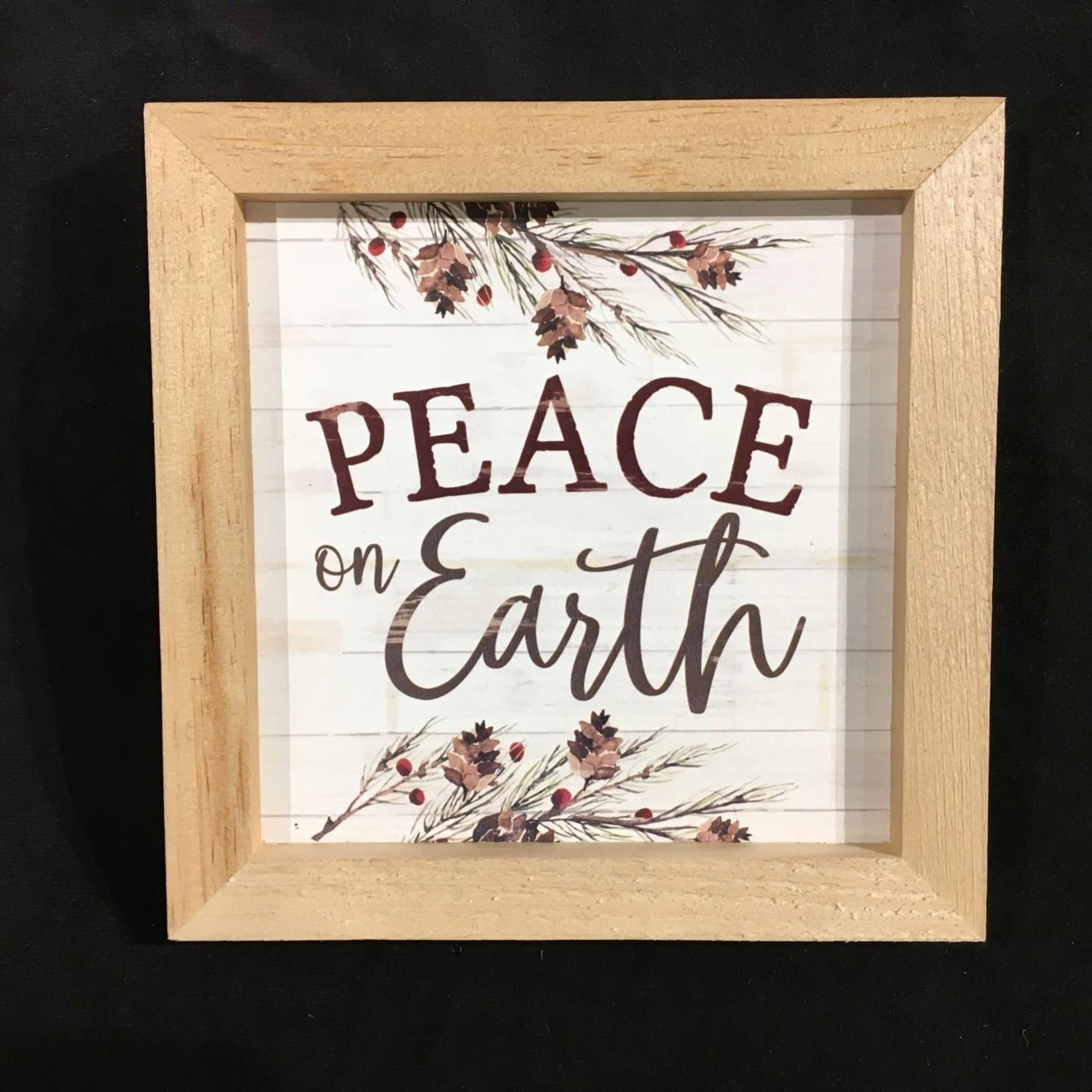 """Framed Peace On Earth (7x7"""")"""