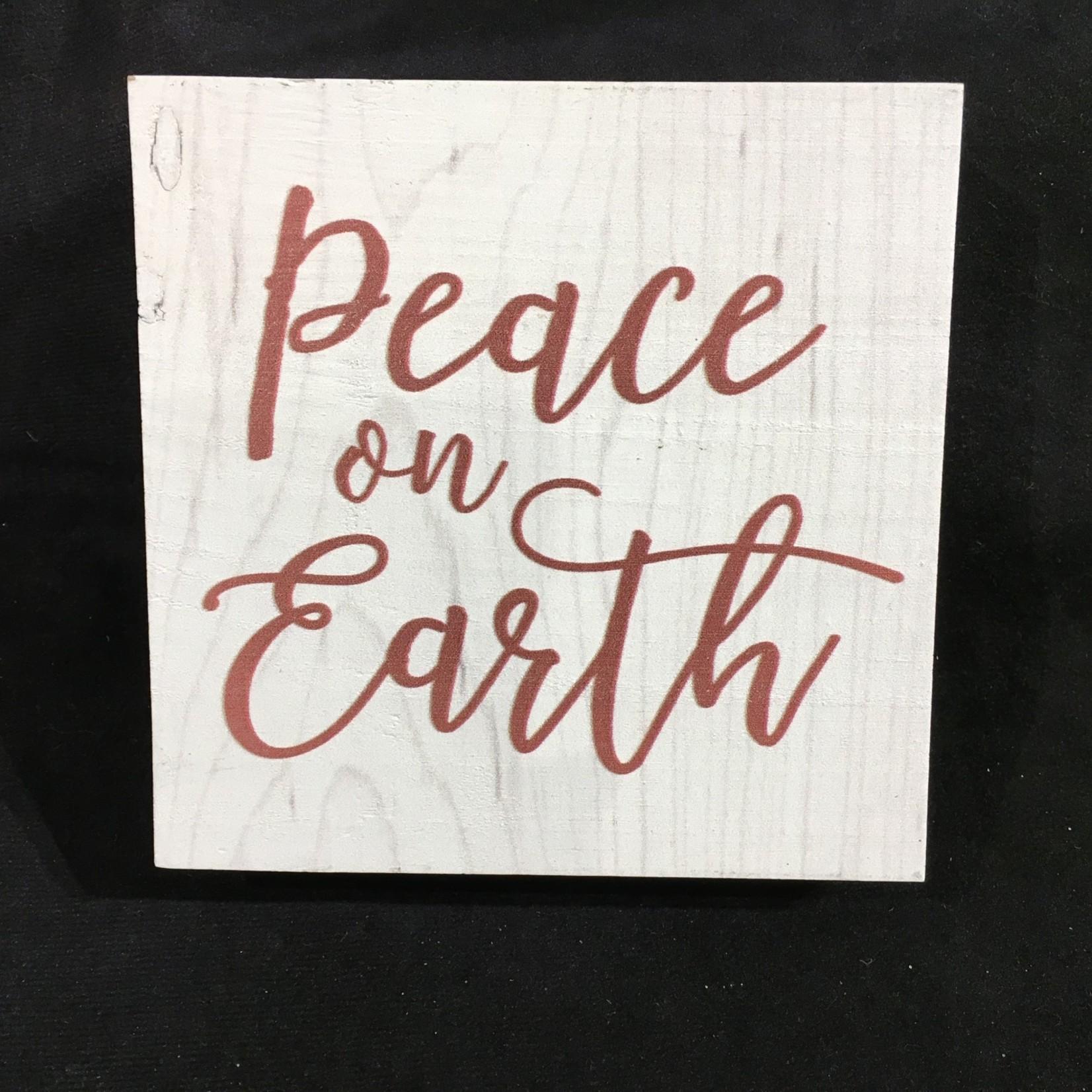 "Peace On Earth Block (Small) 5.5x5.5"""