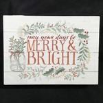 "Merry & Bright Block 7.25x5.25"""