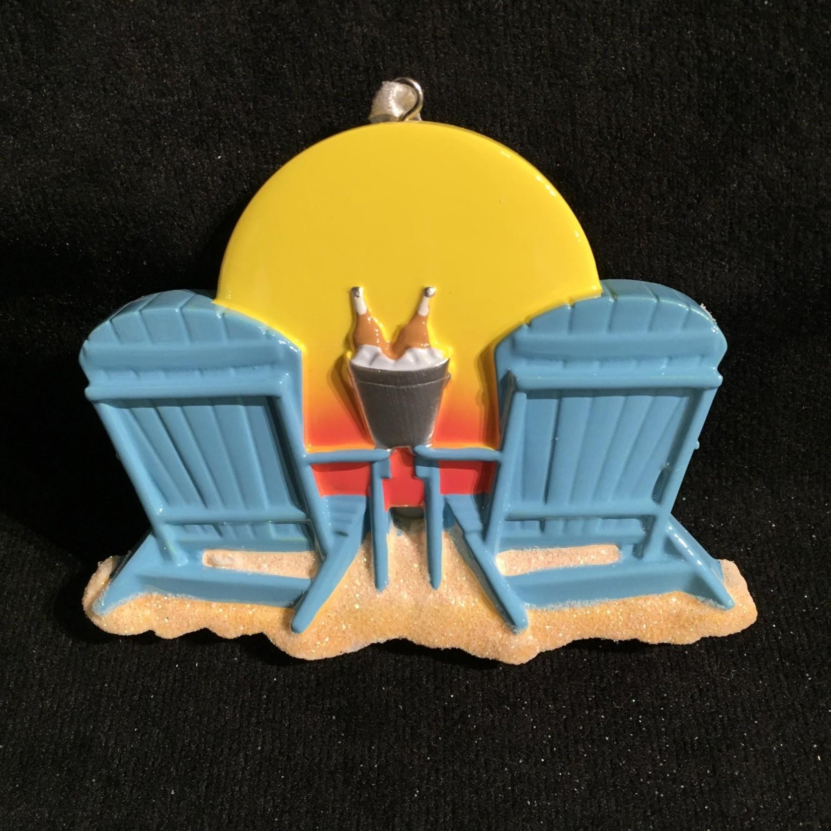 Beach Chairs Ornament