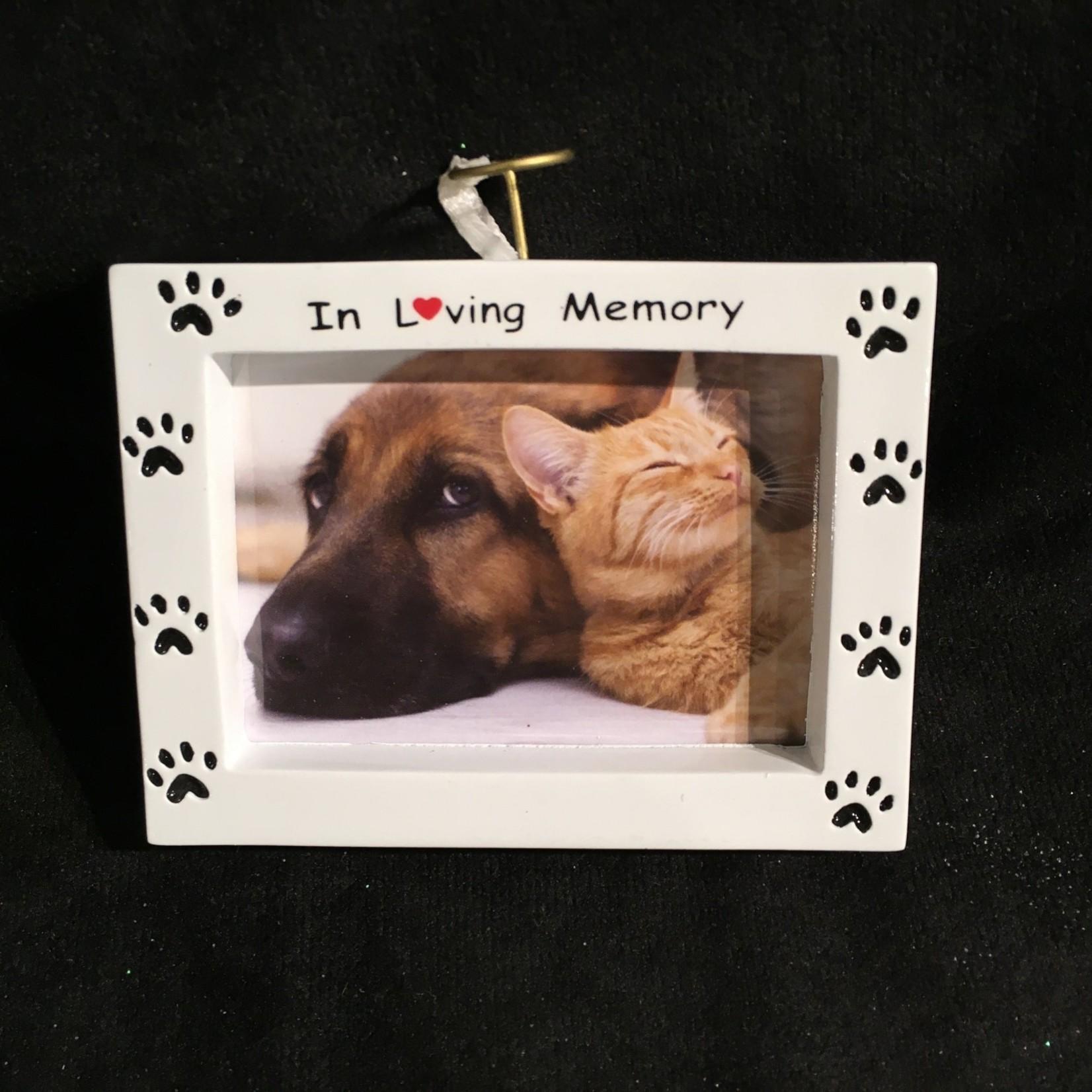 """In Loving Memory Pet Frame/Orn. (2.75x2"""" photo)"""