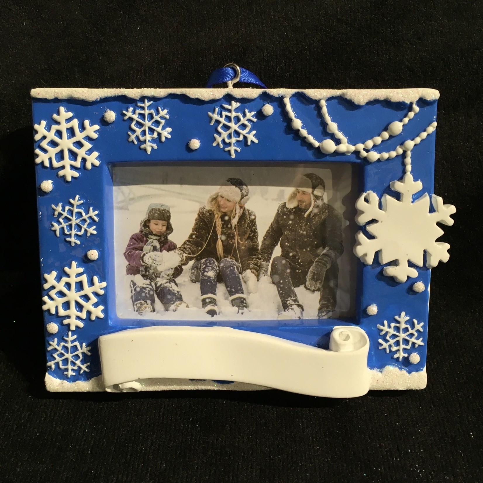 """Snowflake Picture Frame/Orn. (2.5x1.75"""" photo)"""