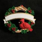 Pers Cardinal w/Wreath Orn.
