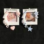 "Baby Frame Orn. 2A (2.25x2.25"" photo)"
