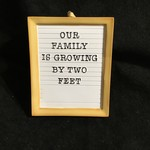 **New Baby Letter Board Orn
