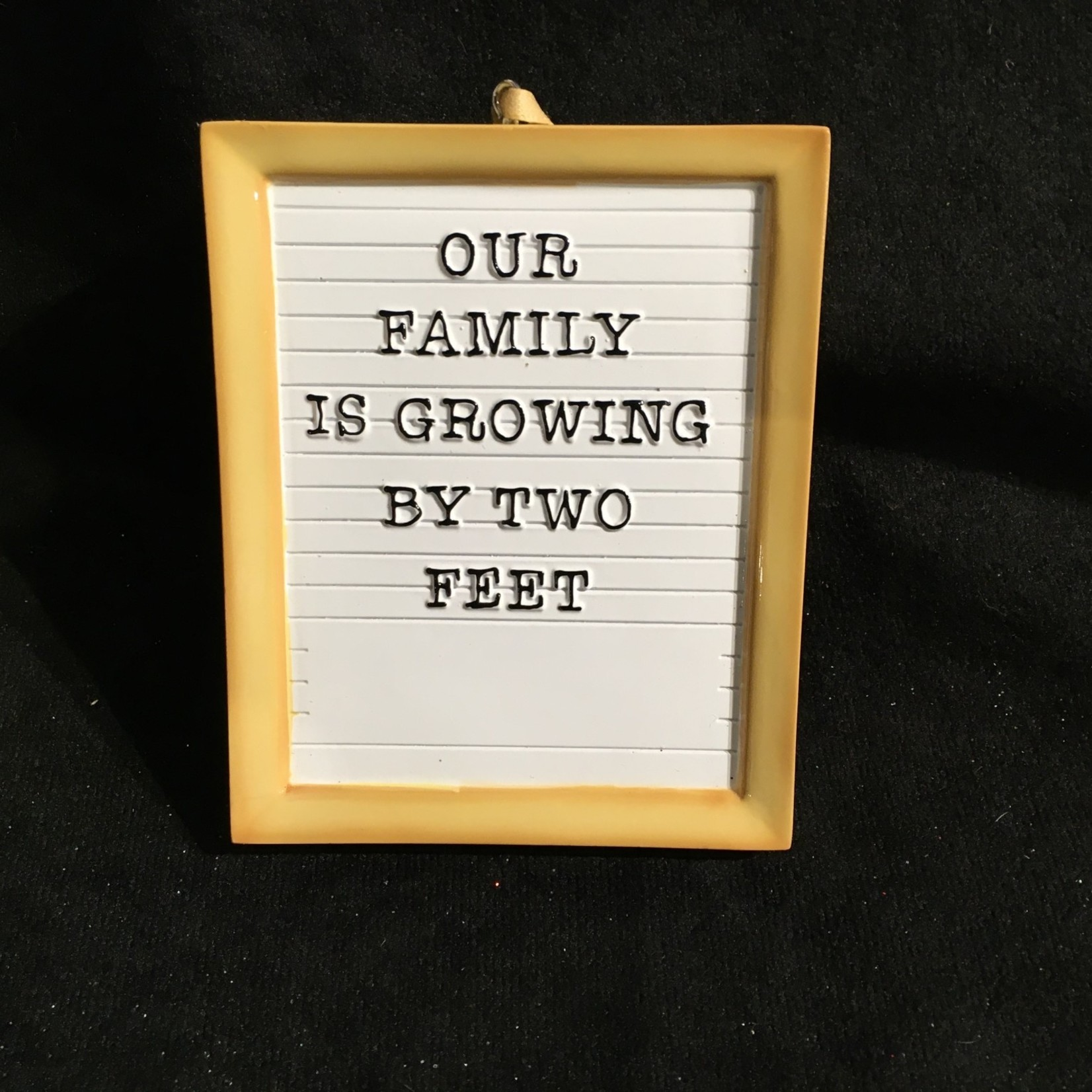 New Baby Letter Board Orn